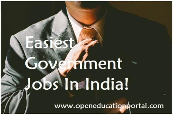 easiest-govt-jobs-in-india