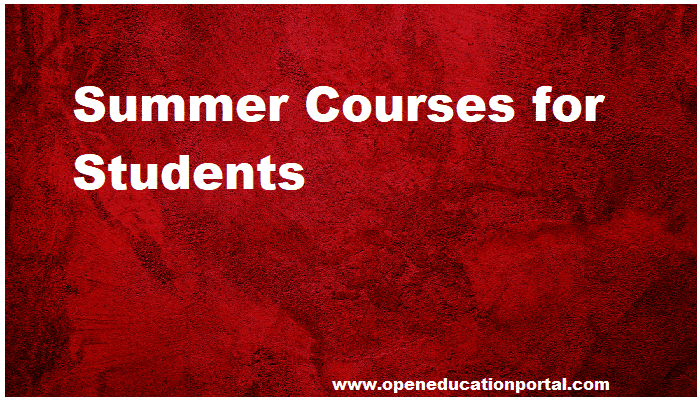 Summer Courses for Students