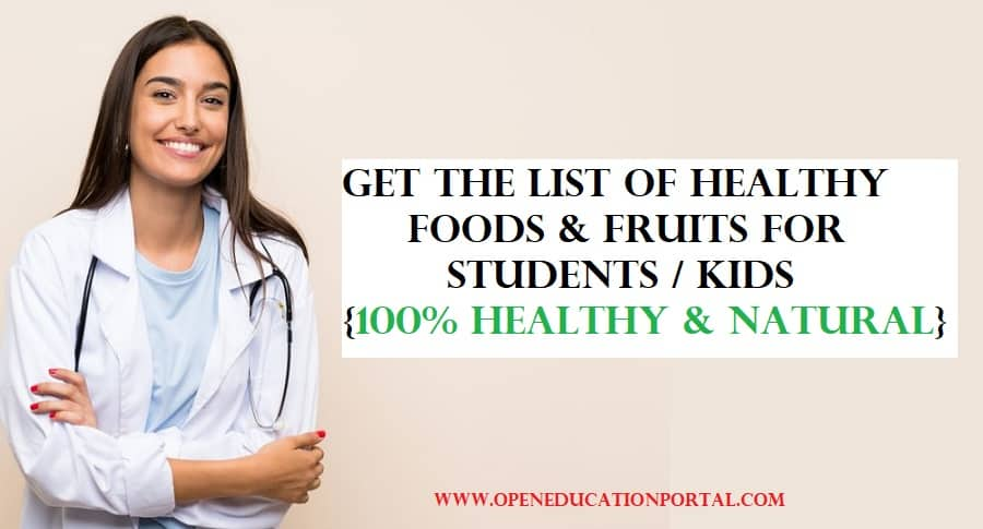 best healthy foods for kids