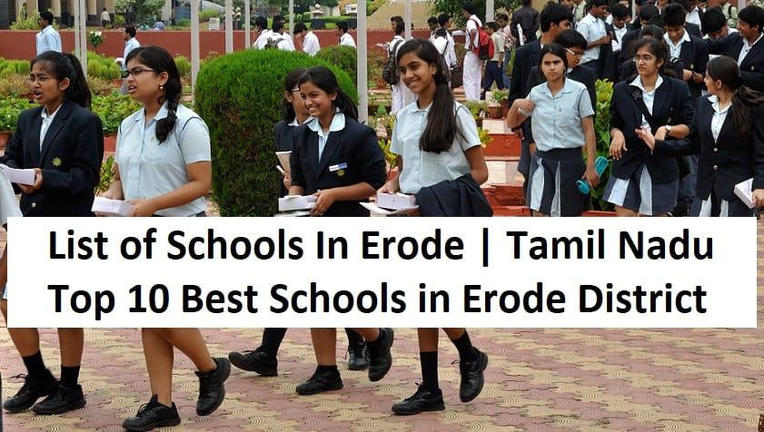 best schools in erode
