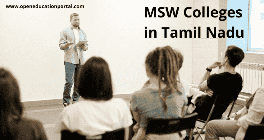 MSW Colleges in Tamil Nadu