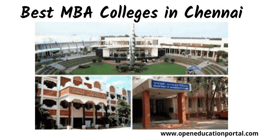 Best MBA Colleges in Chennai