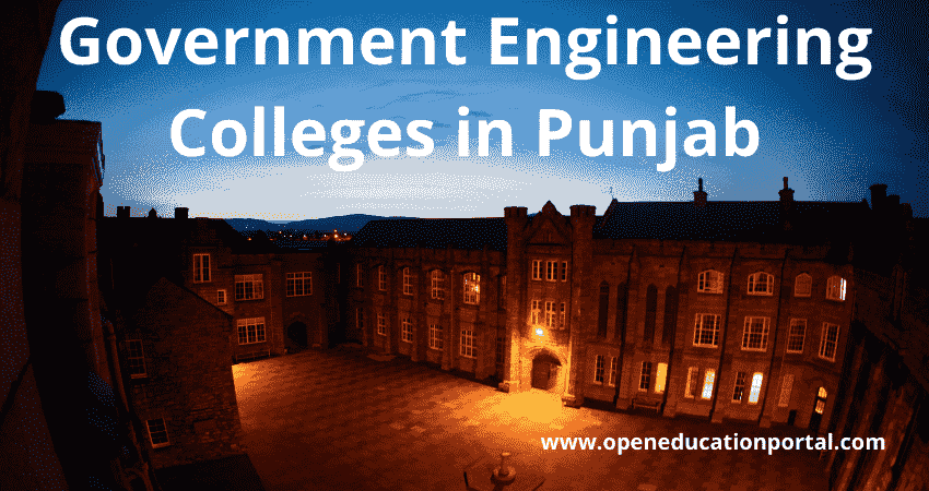 Government Engineering Colleges in Punjab