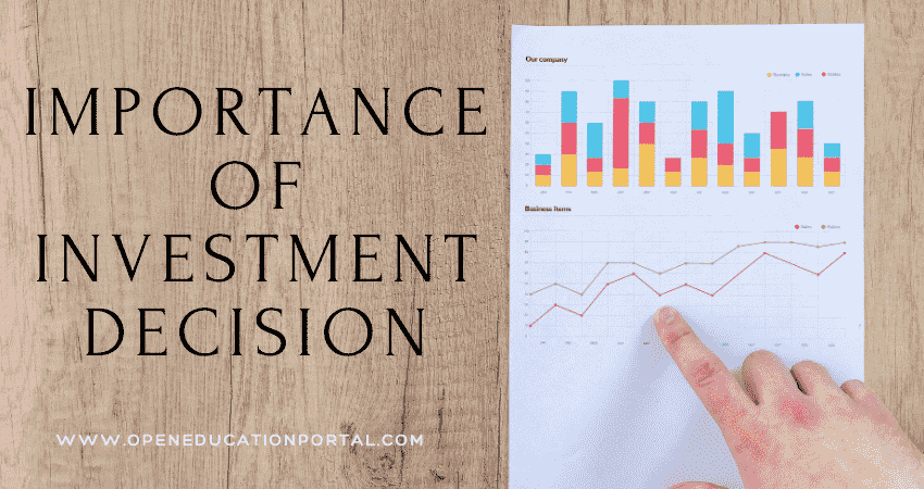 Importance of Investment Decision