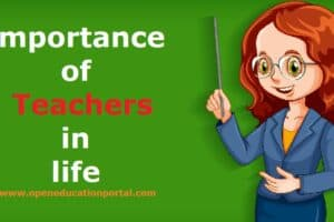 Importance of Teachers in life